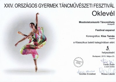 Festival espanol 3.díj