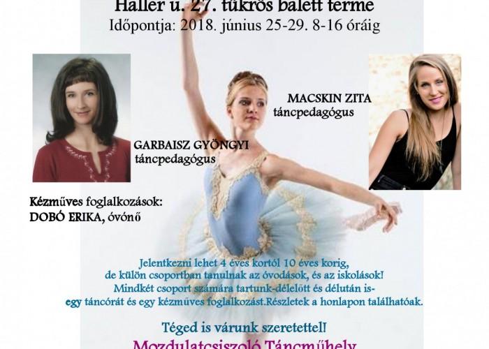 Nyári Tánc- és Kézműves Tábor FMK 2017