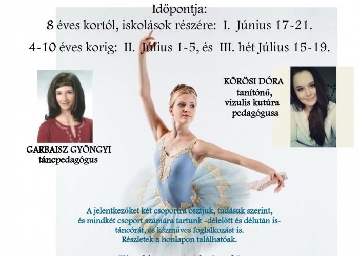 Nyári Tánc- és Kézműves Táborok FMK 2018